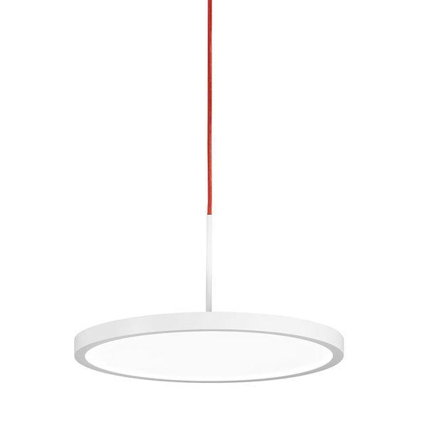 VIVAA 2.0 Pendelleuchte C 450 – rotes Kabel / 53 W / 6400 lm / 3000 K / warmweiß