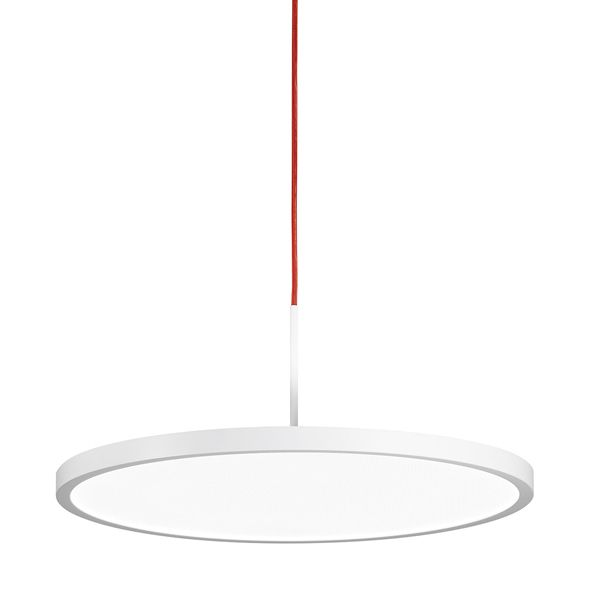 VIVAA 2.0 Pendelleuchte C 600 – rotes Kabel / 85 W / 10200 lm / 3000 K / warmweiß