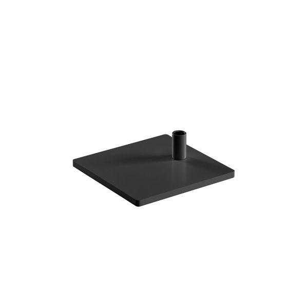 Tischfuß eckig schwarz