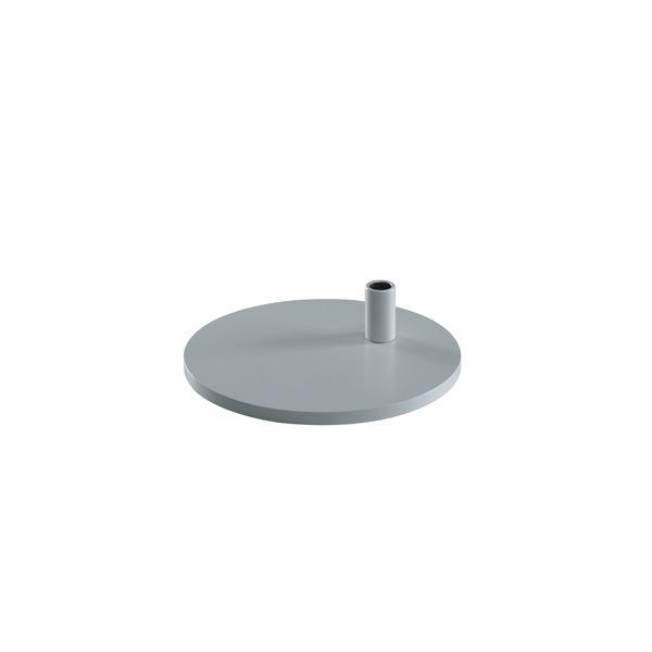 Tischfuß rund silber