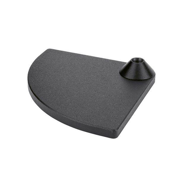 Tischfuß schwarz 0-70 mm